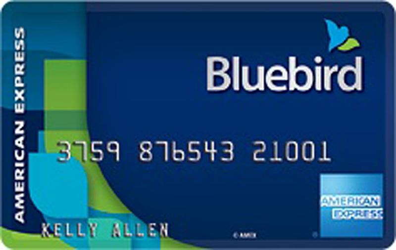 This undated image provided by American Express shows the Bluebird prepaid card that Wal-Mart Stores Inc. and American Express announced Monday, Oct. 8, 2012. The two companies said Monday that Bluebird, begun during a pilot program late last year and acts like a checking account but without the fees that have increasingly frustrated shoppers. It will have no minimum balance and no monthly, annual or overdraft fees. They say the only fees that will be associated with the card will be transparent and within the user's control, such as out of network. (AP Photo/American Express)