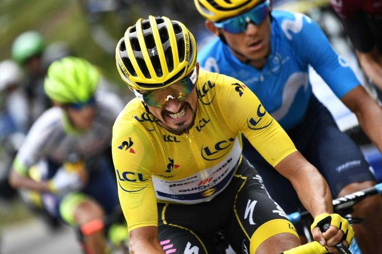 Frenchman Julian Alaphilippe wore the yellow jersey for 14 stages of last year's Tour de France (AFP Photo/JEFF PACHOUD)