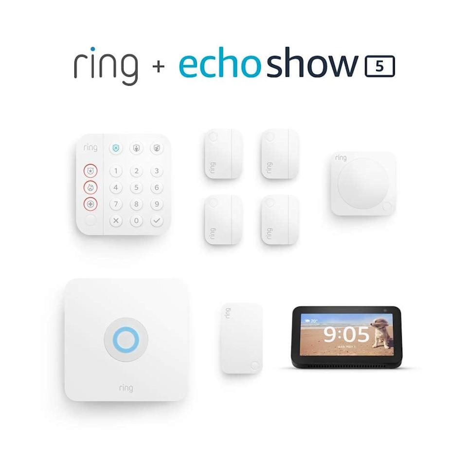 <p><span>Ring Alarm 8-Piece Kit With Echo Show 5</span> ($150, originally $340)</p>