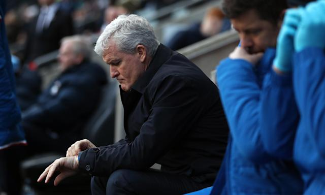 Time ran out for Mark Hughes at Stoke City after defeat to fourth-tier Coventry in the FA Cup third round.