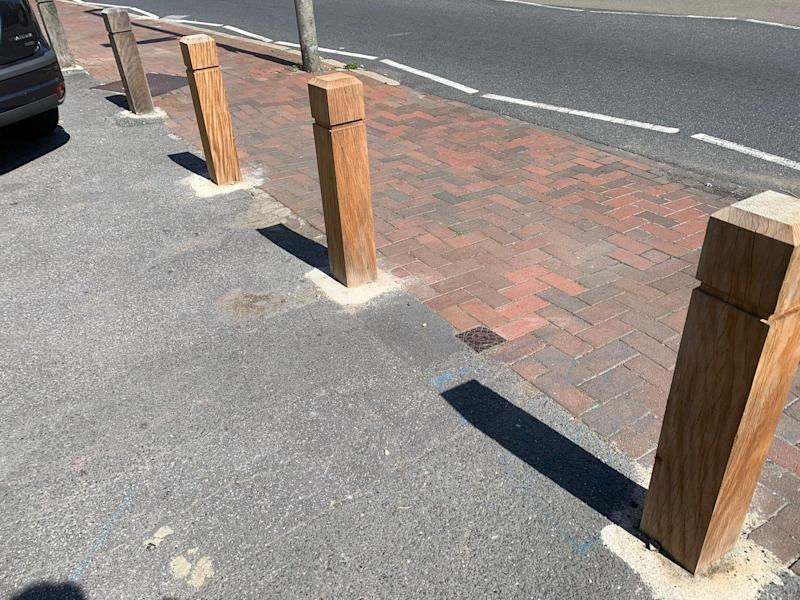 The three bollards (SWNS)