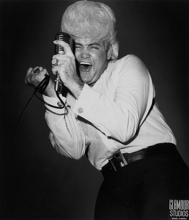 <p>Wayne Cochran was a soul singer known for his outlandish outfits and white pompadour hairstyle. He died Nov. 21 at the age of 78.<br>(Photo: Getty Images) </p>