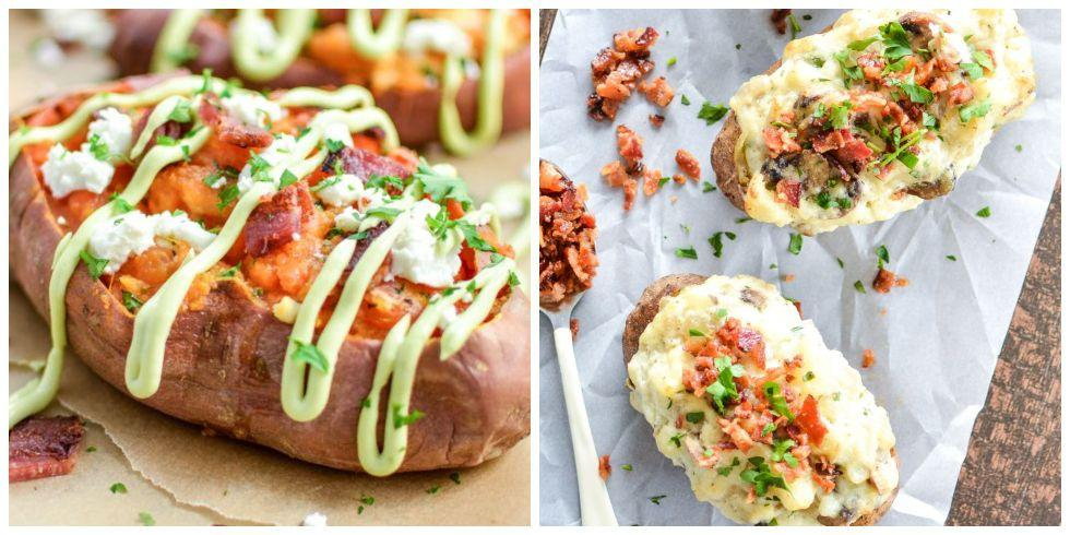 "<p>These flavor-packed <a rel=""nofollow"" href=""https://www.countryliving.com/food-drinks/g1050/simple-potato-recipes-1110/"">twice-baked potatoes</a> will make any meal - especially <a rel=""nofollow"" href=""https://www.countryliving.com/food-drinks/g637/thanksgiving-menus/"">Thanksgiving dinners</a> - twice as special. Here, you'll find easy and fast recipes you can serve as <a rel=""nofollow"" href=""https://www.countryliving.com/food-drinks/g896/thanksgiving-side-dishes/"">side dishes</a>, <a rel=""nofollow"" href=""https://www.countryliving.com/food-drinks/g643/delectable-holiday-appetizers-1208/"">appetizers</a>, or main meals that are simply spud-tastic. </p>"