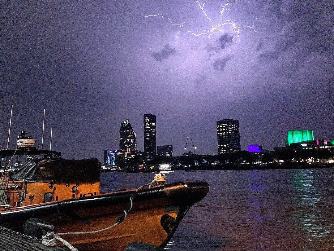 """<p>The London Fire Brigade said it had taken more than 500 weather-related calls as the warm and humid bank holiday weather broke down into an """"utterly intense"""" storm. (Picture: PA) </p>"""