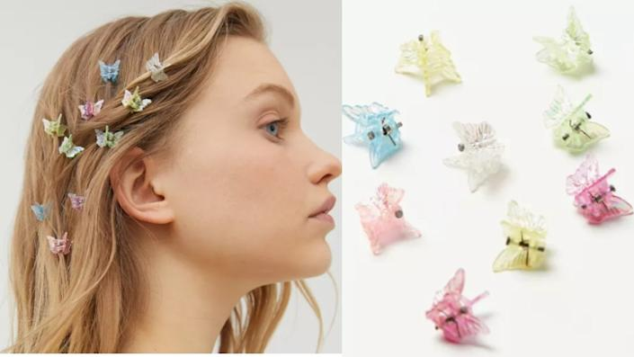 Urban Renewal Vintage Colorful Mini Butterfly Clip Set - Urban Outfitters, $14