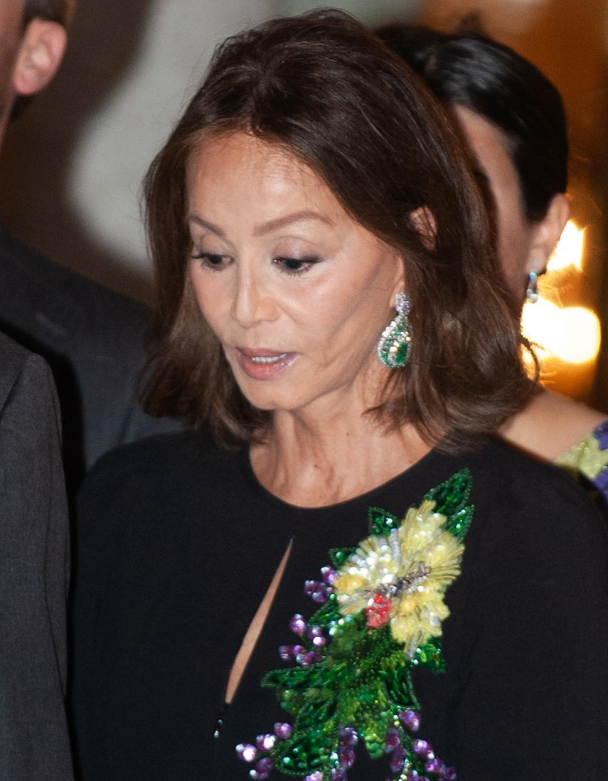 MADRID, SPAIN - FEBRUARY 28: Isabel Preysler attends a reception hosted by Peruvian president Martin Alberto Vizcarra in honour of King Felipe VI of Spain and Queen Letizia of Spain at El Pardo Palace on February 28, 2019 in Madrid, Spain. (Photo by Europa Press Entertainment/Europa Press via Getty Images)