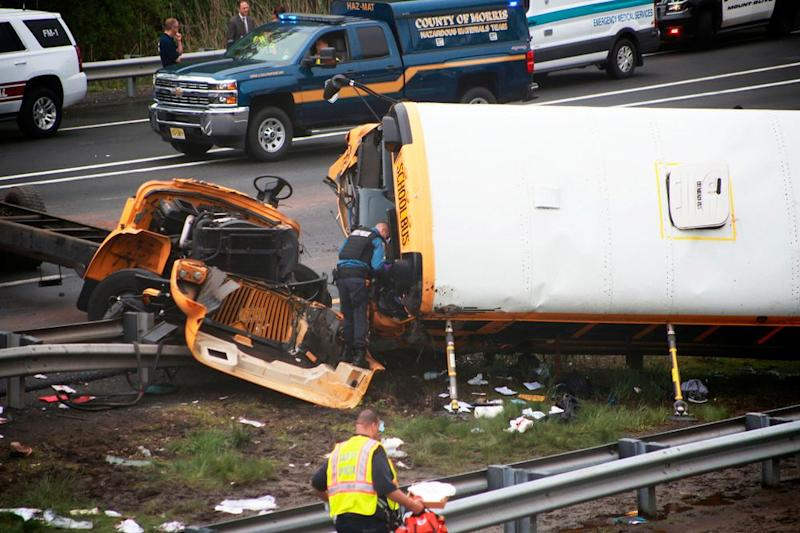 the fatal car crash occured on Route 80 in Mt. Olive Township