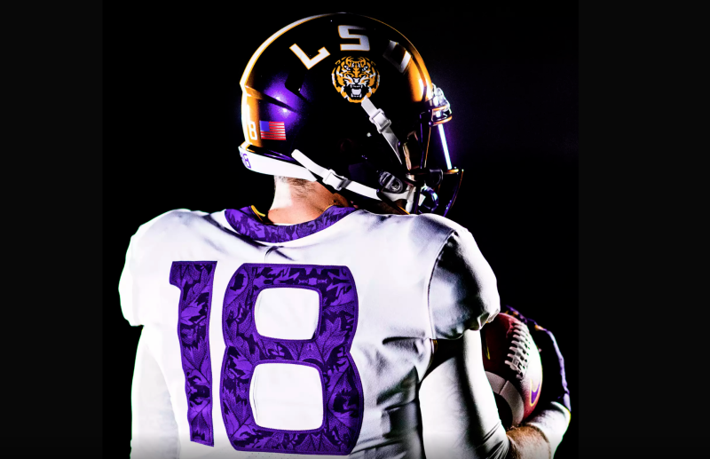 LSU uniforms for Mississippi State game pay tribute to missed season due to  World War I 9621bb389