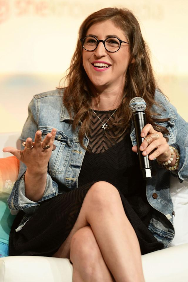 """<p>Bialik plays a genius named Amy on CBS's <em>The Big Bang Theory</em>, but she's also one in real life: The actress earned her Ph.D. from UCLA in 2007 between shooting films and TV shows. Still, a reporter from TNT assumed at the SAG Awards in 2014 that Bialik was not quite as smart as her character:""""So, being on <em>The Big Bang Theory</em>, how many people, not that you aren't a genius,how many people think that you can solve calculus at the drop of a hat?"""" he asked. """"Um, I actually was trained in calculus for several years,"""" <a rel=""""nofollow"""" href=""""https://www.youtube.com/watch?v=dIu_6u0VlwU"""">Bialik replied</a>. """"I'm a neuroscientist."""" </p>"""