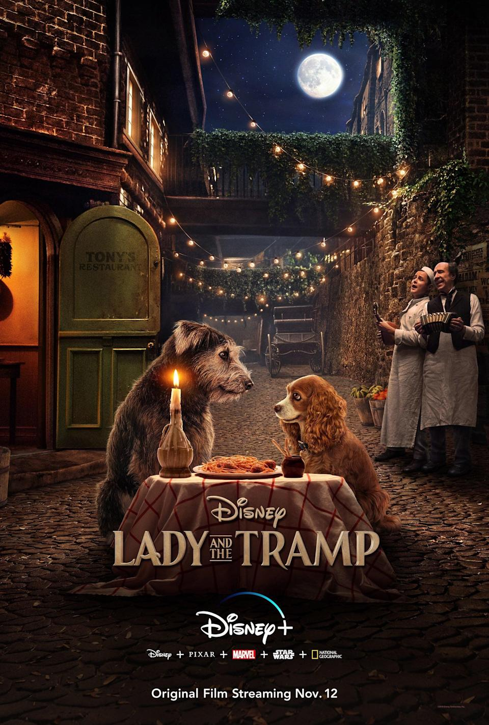 """<p> This <a href=""""https://www.popsugar.com/entertainment/Lady-Tramp-2019-Movie-Trailer-46538119"""" class=""""link rapid-noclick-resp"""" rel=""""nofollow noopener"""" target=""""_blank"""" data-ylk=""""slk:Disney reboot"""">Disney reboot</a> features an upper-class American cocker spaniel named Lady (Tessa Thompson) who was the center of her family's attention since the day she was adopted - until they had a baby. Quickly, Lady finds herself forgotten in the streets, where she meets a stray named Tramp (Justin Theroux), and falls in love. Galavanting around town together, the dogs form a relationship that we all can learn from. </p>"""