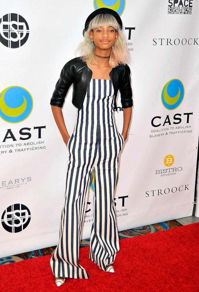 LOS ANGELES, CA - MAY 09:  Willow Smith arrives at the Coalition To Abolish Slavery and Trafficking's 15th Annual From Slavery to Freedom gala at the Sofitel Hotel on May 9, 2013 in Los Angeles, California.  (Photo by Jerod Harris/WireImage)