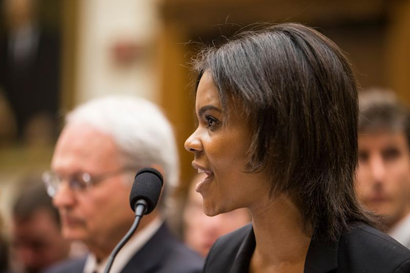 Candace Owens of Turning Point USA testifies during a House Judiciary Committee hearing discussing hate crimes and the rise of white nationalism. (Photo: Zach Gibson/Getty Images)