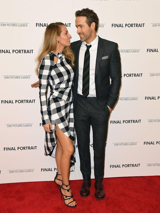 Blake Lively and Ryan Reynolds attend the <em>Final Portrait</em> premiere in NYC. (Photo: Angela Weiss/AFP/Getty Images)