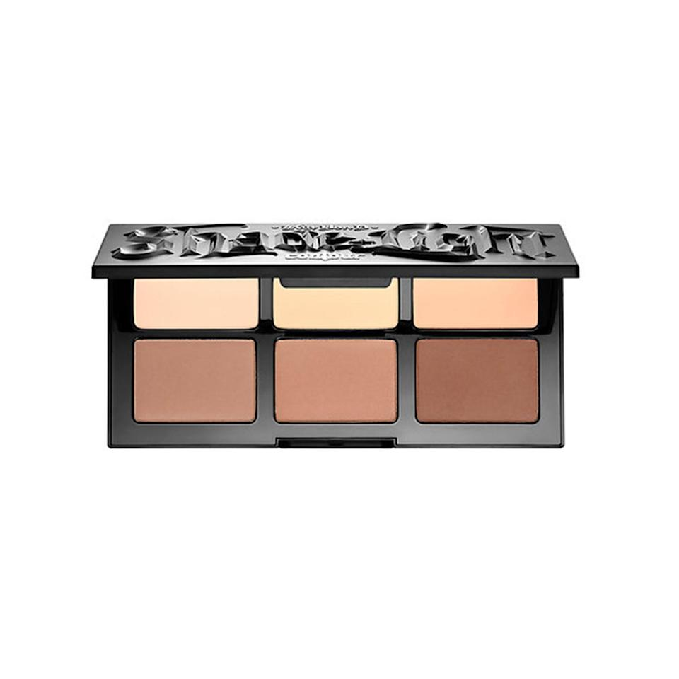 """<p><strong>Kat Von D Shade + Light Face Contour Refillable Palette</strong></p> <p>This popular palette comes with six matte shades—three for highlighting and three for contouring. Once you find some favorites, you can pop out the empty pan and replenish it with the same color if you want.</p> <p>$49 (<a href=""""http://www.sephora.com/shade-light-face-contour-refillable-palette-P413458?mbid=synd_yahoobeauty"""" rel=""""nofollow noopener"""" target=""""_blank"""" data-ylk=""""slk:Sephora.com"""" class=""""link rapid-noclick-resp"""">Sephora.com</a>).</p>"""