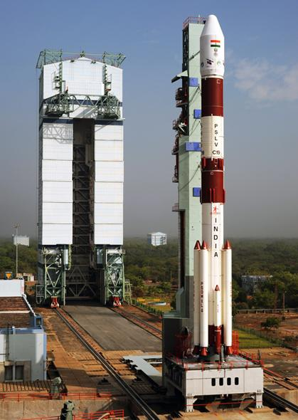 PSLV C-19 stands tall at 44.5 meters.It can lift off satellites up to a scary 321 ton