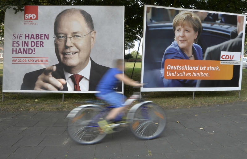 Merkel faces challenger in German election debate