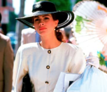 """<p>The only thing better than Julia Roberts' impeccable low pony and hat combo (copying this for our Kentucky Derby party, thanks) is her """"big mistake"""" moment. </p>"""