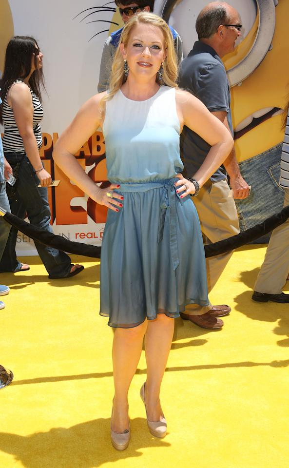 "UNIVERSAL CITY, CA - JUNE 22: Actress Melissa Joan Hart attends the premiere of Universal Pictures' ""Despicable Me 2"" at the Gibson Amphitheatre on June 22, 2013 in Universal City, California. (Photo by Frederick M. Brown/Getty Images)"