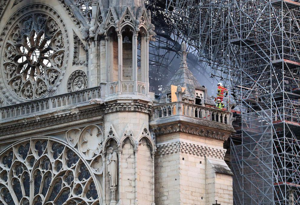 The Notre Dame Cathedral in Paris following a fire which destroyed much of the building (Picture: PA)
