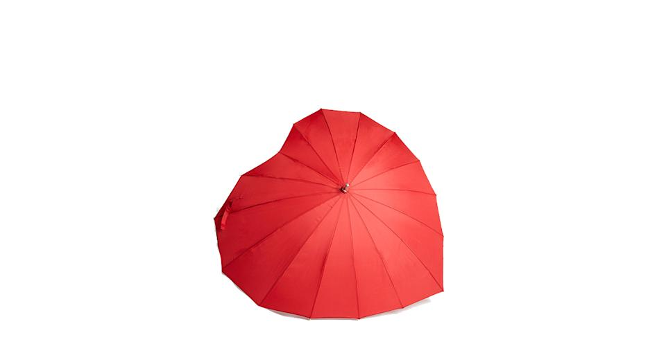 Give a Little Love Heart Shape Umbrella