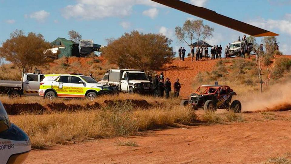 The Finke Desert Race, pictured here in the Northern Territory.