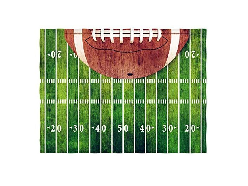 Retro Football Field Throw Blanket. (Photo: Amazon)
