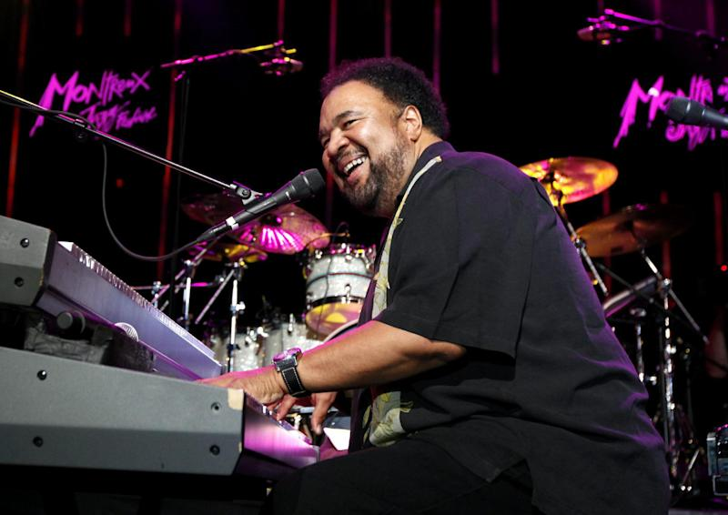 FILE - In this July 13, 2009 file photo, US jazz artist George Duke performs on the Stravinski Hall stage at the 43rd Montreux Jazz Festival, in Montreux, Switzerland. Duke, 67, the Grammy-winning jazz keyboardist and producer whose sound infused acoustic jazz, electronic jazz, funk, R&B and soul in a 40-year-plus career, died Monday, Aug. 5, 2013, in Los Angeles. He was being treated for chronic lymphocytic leukemia. (AP Photo/Keystone, Jean-Christophe Bott, File)