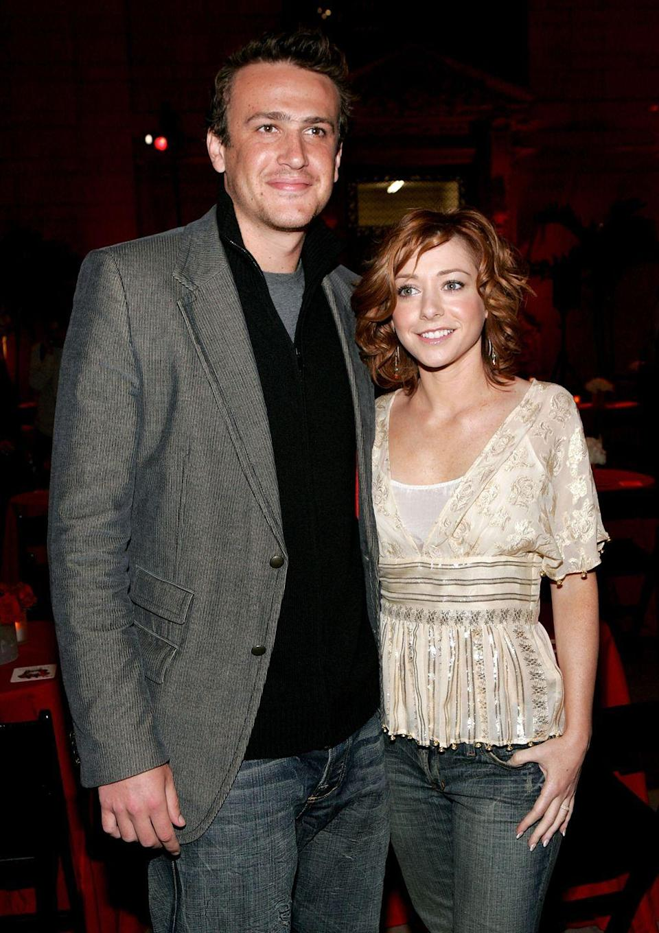 "<p>Kisses weren't always sweet for <em>How I Met Your Mother</em>'s legendary lovebirds Marshall and Lily. Alyson Hannigan <a href=""https://www.digitalspy.com/tv/ustv/a130726/hannigan-i-hate-kissing-tv-hubby/"" rel=""nofollow noopener"" target=""_blank"" data-ylk=""slk:originally refused to kiss"" class=""link rapid-noclick-resp"">originally refused to kiss </a>her on-screen husband, Jason Segel, because he smelled <em>and</em> tasted like smoke. Turned out to be a blessing for Segel (not to mention for Marshall and Lily fans), as Hannigan's attitude forced him to quit the habit.</p>"