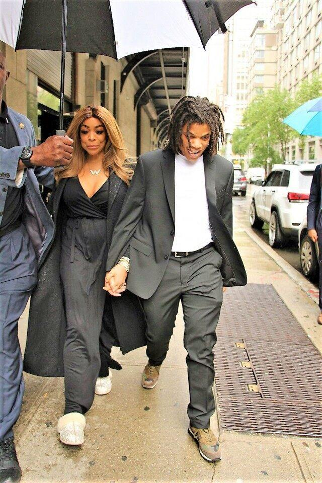 b812d5db9 Wendy Williams Steps Out With Son Kevin Hunter Jr. After His Arrest