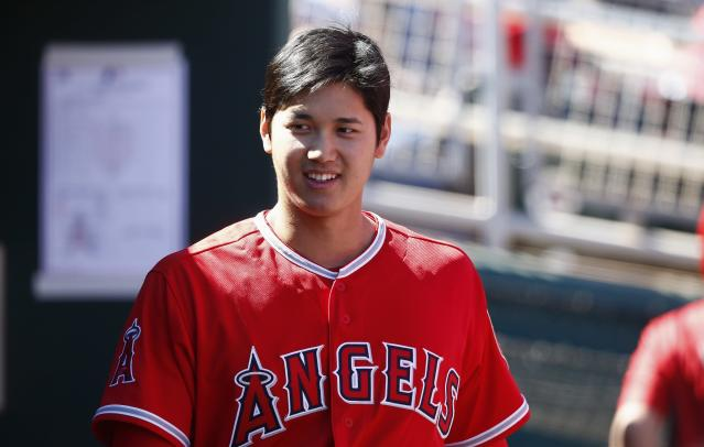 Shohei Ohtani became the latest victim of Clayton Kershaw's curve. (AP Photo)
