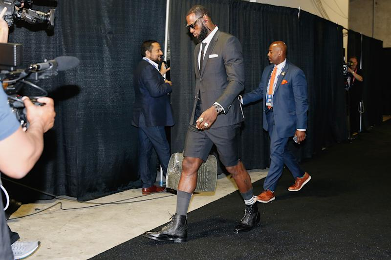 Lebron James in Shorts for NBA finals