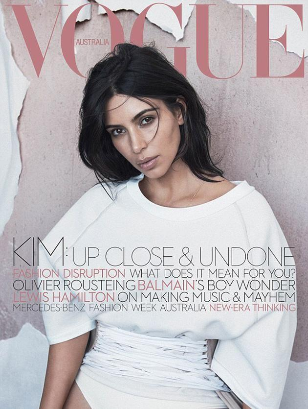 The June issue of Vogue Australia starring Kim Kardashian.