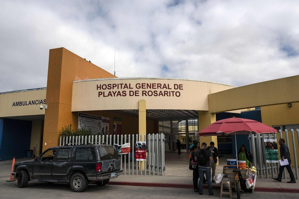 View of the Hospital General de Rosarito where allegedly Thomas Markle, the father of Meghan Markle, had been treated after a heart attack past week, in Rosarito, Baja California state, Mexico on May 17, 2018. - Hounded by the paparazzi, Meghan Markle's father has been caught up in the complex and often bitter relationship between Britain's royals and the media ahead of her wedding to Prince Harry. Thomas Markle, 73, is reportedly undergoing heart surgery and will not be able to walk his daughter down the aisle during the marriage on Saturday at Windsor Castle. (Photo by GUILLERMO ARIAS / AFP)        (Photo credit should read GUILLERMO ARIAS/AFP via Getty Images)