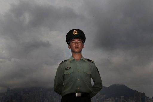 A member of the People's Liberation Army