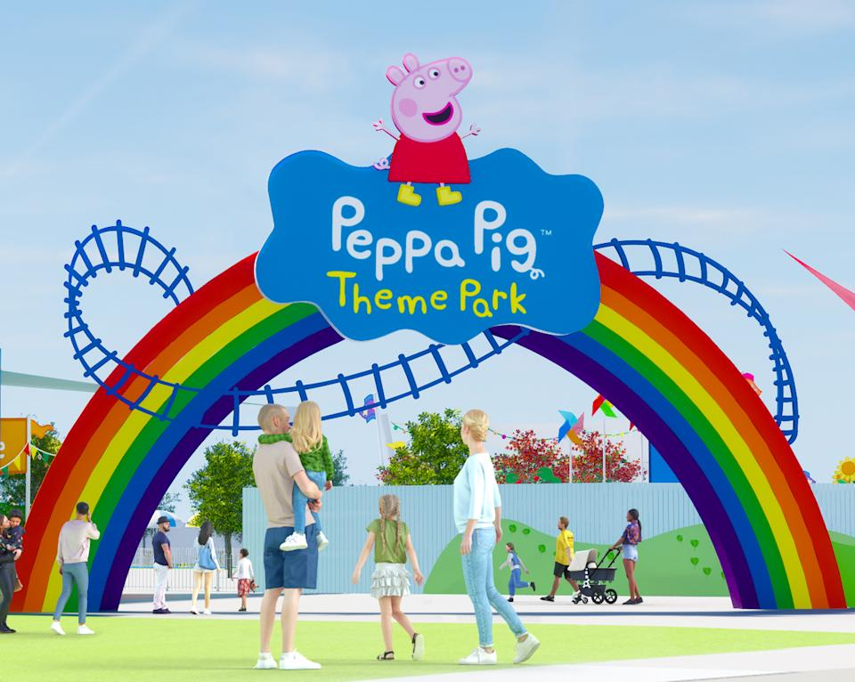 Starting in February 2022, Peppa Pig fans will be able to get up close and personal with characters from their favorite cartoon at a new theme park. (Photo: Peppa Pig Theme Park)