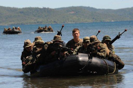 US and Filipino soldiers are seen during joint training on Palawan island