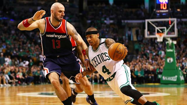 Star guard Isaiah Thomas lost a tooth in the first quarter of the Celtics' series opener against the Wizards, but recovered to lead a Boston comeback win.