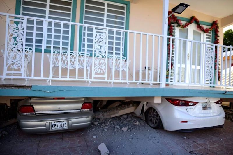 Damage caused by a pair of earthquakes that hit Puerto Rico on Monday | Carlos Giusti/AP/Shutterstock