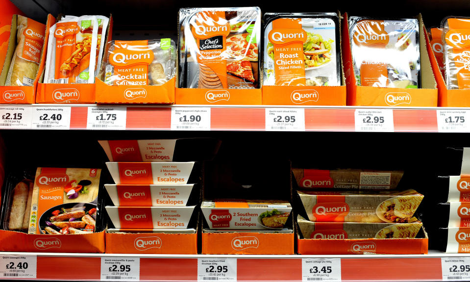 Quorn's meat-free options. Photo: Nick Ansell/PA Archive/PA Images