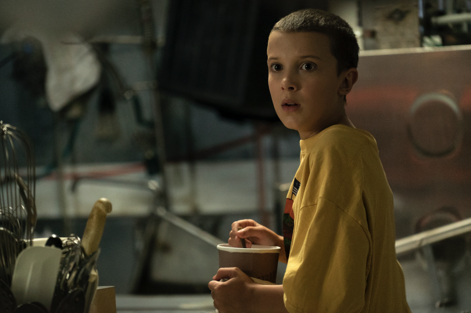 <p><strong>Shaved</strong></p><p>But when fans first met her in the first season of <em>Stranger Things</em>, Brown's shaved head was essential to her character. </p>