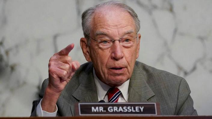 Senator Chuck Grassley (R-IA), speaks during a Senate Judiciary Committee confirmation hearing on October 13, 2020 in Washington, DC. (Photo by Stefani Reynolds-Pool/Getty Images)
