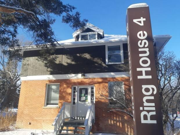The University of Alberts says its historic Ring Houses—plus two additional East Campus Village houses— will become the centrepieces of an arts and sculpture community development.  (Nathan Gross/CBC - image credit)
