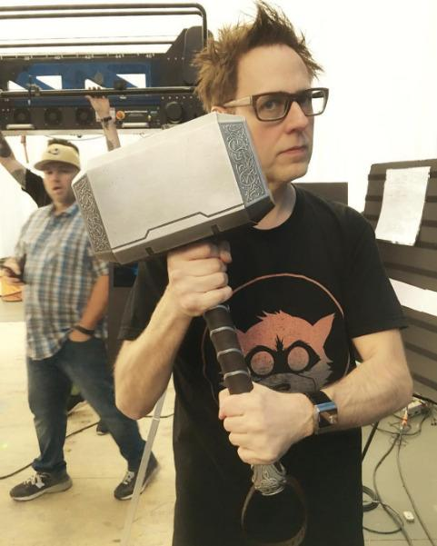 james gunn wields thor s hammer in our guardians of the