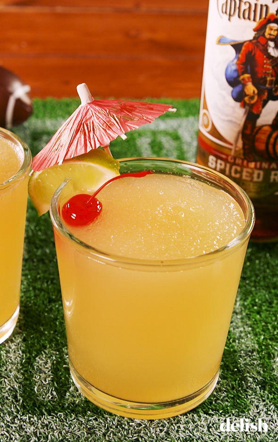 """<p>Margaritas made with rum is the absolute best thing to happen to margaritas.</p><p>Get the recipe from <a href=""""https://www.delish.com/cooking/recipe-ideas/a26001310/touchdown-tikiritas-recipe/"""" rel=""""nofollow noopener"""" target=""""_blank"""" data-ylk=""""slk:Delish"""" class=""""link rapid-noclick-resp"""">Delish</a>.</p>"""