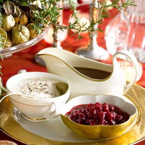 "<p>This delicious fruity sauce goes perfectly with roast turkey</p><p><strong>Recipe: <a href=""https://www.goodhousekeeping.com/uk/food/recipes/a535867/cranberry-and-clementine-sauce/"" rel=""nofollow noopener"" target=""_blank"" data-ylk=""slk:Cranberry and Clementine Sauce"" class=""link rapid-noclick-resp"">Cranberry and Clementine Sauce</a></strong></p>"