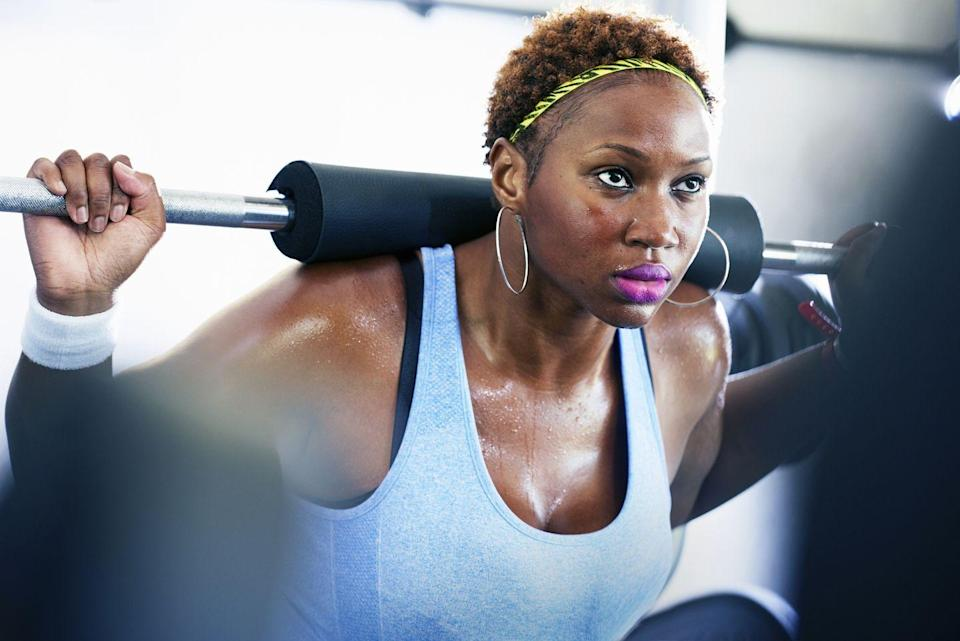 """<p>There are countless studies that show that exercise can make you happy, and if you've ever worked out, you can probably attest to that. One study from 2018 found that after doing just <a href=""""https://www.ncbi.nlm.nih.gov/pmc/articles/PMC5934999/"""" rel=""""nofollow noopener"""" target=""""_blank"""" data-ylk=""""slk:20 to 30 minutes of aerobic exercise"""" class=""""link rapid-noclick-resp"""">20 to 30 minutes of aerobic exercise</a>, your body releases endorphins, making you feel more positive and upbeat. It also releases serotonin and dopamine, two feel-good chemicals that can hang around long after a workout.<br></p><p>Aerobic exercise can be anything that gets your heart pumping. Go for a brisk walk for 20 minutes, watch TV while on your exercise bike, or do an Instagram Live workout for free. Just get a little active to get those endorphins going! </p>"""