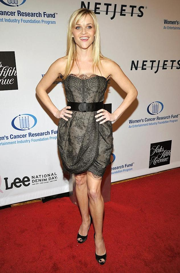 "Oscar winner Reese Witherspoon looked lovely as usual as she joined other A-listers for Saks' annual ""Unforgettable Evening"" at the Beverly Wilshire hotel in Beverly Hills. The star-studded event raised money for women's cancer research. John Shearer/<a href=""http://www.wireimage.com"" target=""new"">WireImage.com</a> - January 27, 2010"