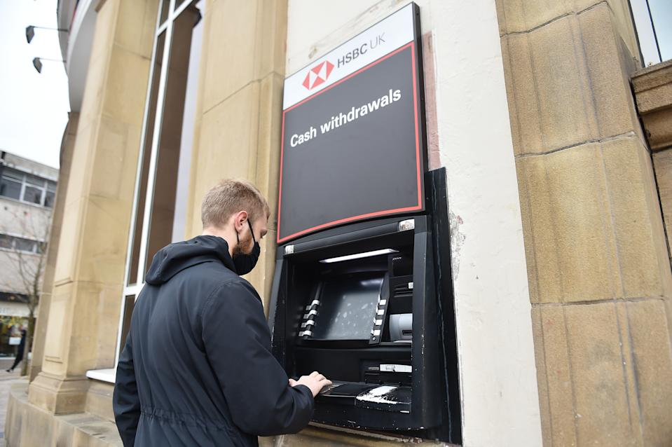 An HSBC ATM machine in Stoke, England. Photo: Nathan Stirk/Getty Images
