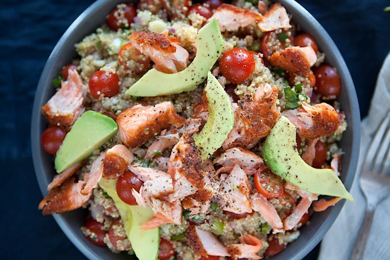 Quinoa, Salmon & Avocado Salad