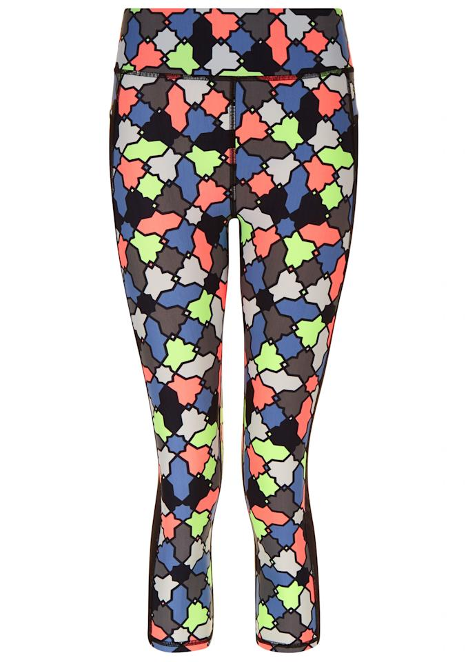 "<p><a rel=""nofollow"" href=""http://www.sweatybetty.com/clothes/bottoms/capris/multi-zero-gravity-crop-run-leggings/"">Sweaty Betty, £80</a> </p>"